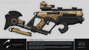 Aakaash Cybernetics - Type 58 SMG Concept by prokhorvlg