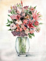 watercolor flowers by Just-a-Witness