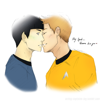 K/S: Wanna kiss you, Spock by xCheckmate