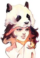 Panda Hat Girl by taho