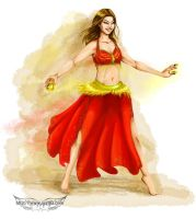 Red Bellydancer by Ayrtha