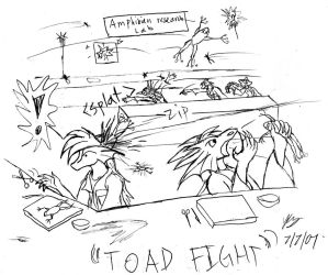 Toad Fight by Snowfyre