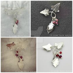 Holly And Ivy Brooch by WallaceReg