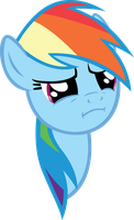 Rainbow Dash's WTF Face by sircinnamon