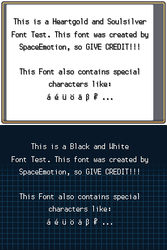 Pokemon Font Kit HGSS+BW by spaceemotion