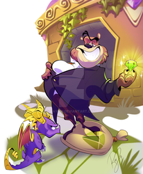 Moneybags and Spyro by Rayish