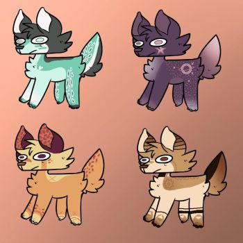 Dog Adoptables Batch Two by ChibiPaws0708