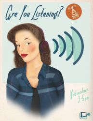 Old Time Radio Show | Poster: Are You Listening? by redtemplepilots