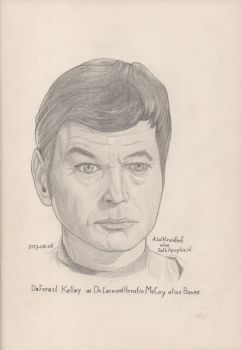 2017-08-06-Portrait DeForest Kelley aka Dr McCoy a by SethApophis