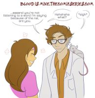 Blood is Mine - Dr. Finch and the Rat by rufiangel
