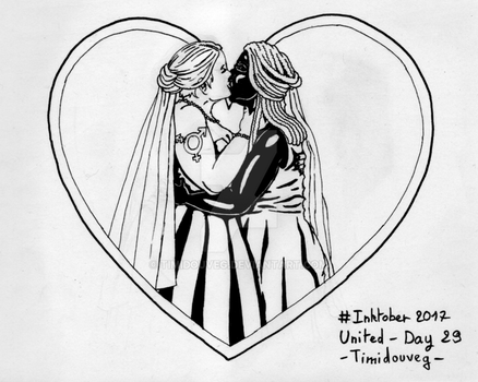 Inktober 2017 - 29 United by Timidouveg