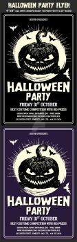 Halloween Party Psd Flyer Template by Hotpindesigns
