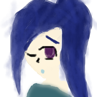 A Girl  With The Blue Hair by devilpunkgirlsBFFFs