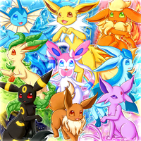 Eeveelutions by Linachi0