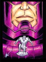 Galactus and Surfer by eltoromuerto