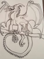 Perched Dragon by wingedwolf94