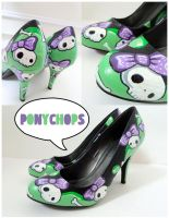 Green and Purple Skully Heels by ponychops
