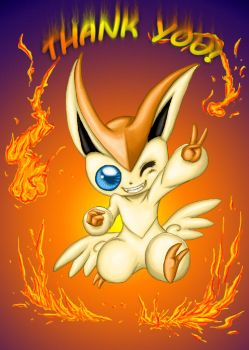 Victini - Thanks for the 10K by HantWolf