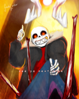 see ya next time - UnderFell Sans by Fadelurker