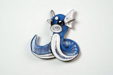 Pokemon Paper Quilling Art 147 Dratini by wholedwarf