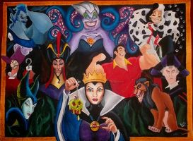 Disney Villains by Bee-Minor