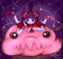 [Undertale]-Muffet and pet by CrowlKitsune