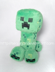 Creeper plushie by sequinjar