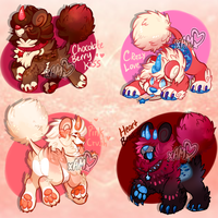Valentines DandyLyon Pup batch! [SOLD OUT] by AdorkableMarina