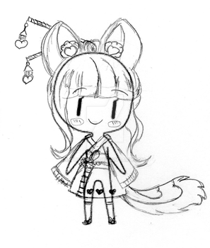 [Sketch] Chibi OC Cristally by Tuttipink by Tuttipink