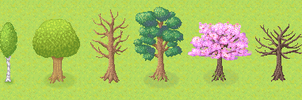 Tailor Tales: Pixel Trees by PinkFireFly