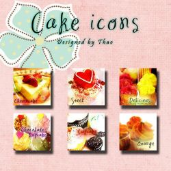 Cake icons by bibi-bummie