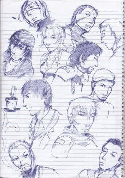 CW character scribbles by Death-by-Papercuts