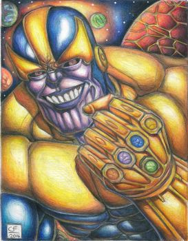 thanos by Chuckfarmer