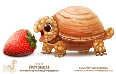Daily Paint 1914# Nutshell by Cryptid-Creations