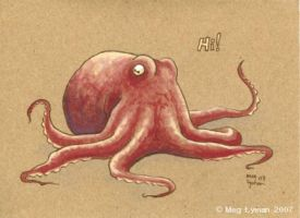 Octopus Notecard by MegLyman