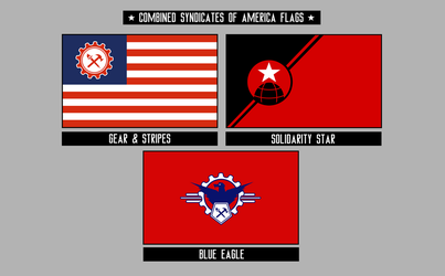Combined Syndicates' Flags by KingWillhamII