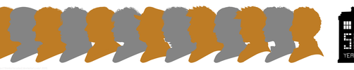Doctor Who 50th Anniv. Doctor Silhouettes Digital by theDoctorWHO2