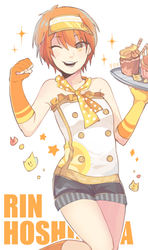 Waitress Rin!! by UselessFoxSai