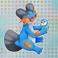 Swampert and Piplup