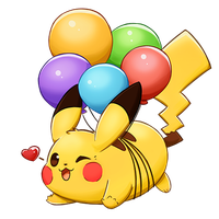 Pokemon Snap!  Balloon Pikachu by Christina-LY