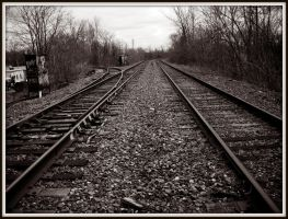 Black And White Traintracks by Rainbow826