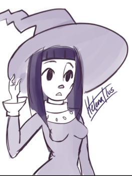 Cute witch by HelenaIlus