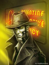 Fallout 4 - Nick Valentine sketch by maXKennedy