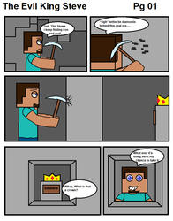 The Evil King Steve pg 01 by BalloonChey