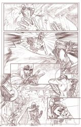 Uncanny Xmen 112 redraw page 6 pencils by benttibisson