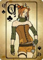 Queen of Clubs by moon-pookah