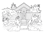 House drawing2 (line art) by electronicdave