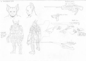 An Aliens Story - Character Design #1 by DavideDellaVia