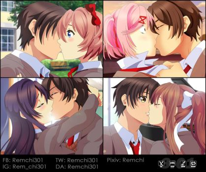 MC x Everyone Kissing [FULL COLORED] by Remchi301