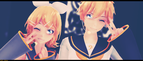 Happy birthday, Rin and Len! by Pastel--Galaxies